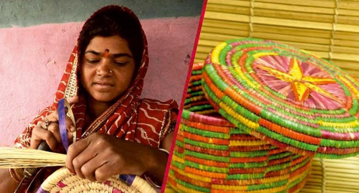 आय सृजन गतिविधियों में संलग्न बिहार की एक महिला लाभार्थी